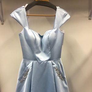 Sherri Hill 53211 SZ 6 Baby Blue Cocktail Dress
